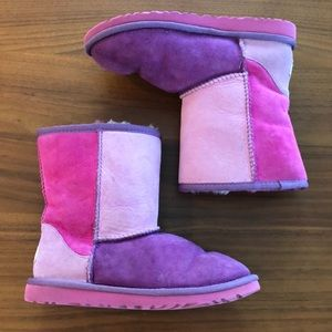 Ugg purple and pink suede boots